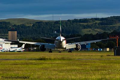 A6-EBB Emirates Airways Boeing 777-36N(ER) Glasgow Airport 14/07/2015