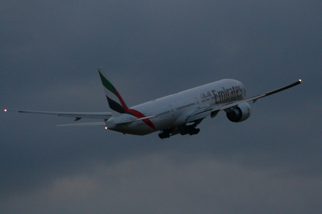 A6-EBE Emirates Airways Boeing 777-36N(ER) Glasgow Airport 23/07/2014