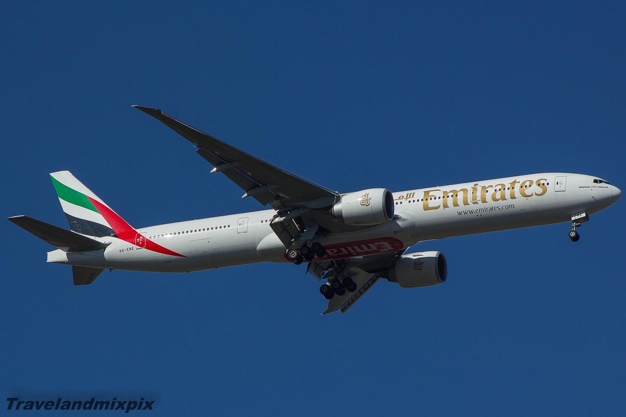 A6-ENE Emirates Airways Boeing 777-31H(ER) Glasgow Airport 21/03/2015