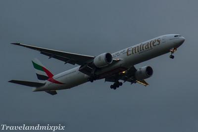 A6-EBC Emirates Airways Boeing 777-36N(ER) Glasgow Airport 23/07/2017
