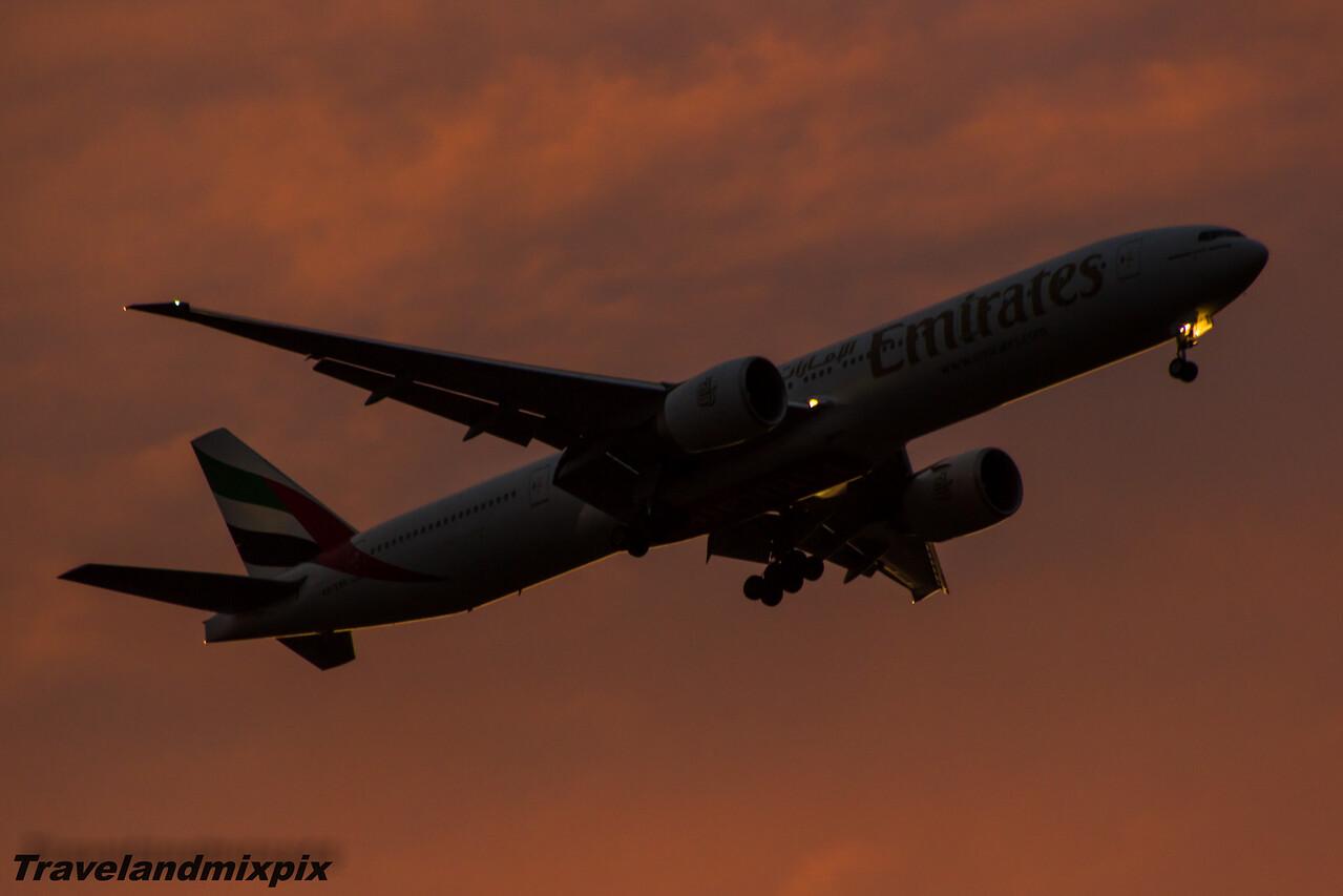 A6-ENE Emirates Airways Boeing 777-31H(ER) Glasgow Airport 13/03/2015