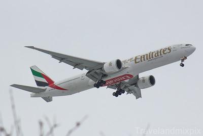 A6-EBN Emirates Airways Boeing 777-36N(ER) Glasgow Airport 02/03/2018