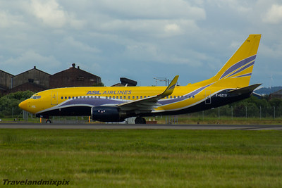 F-GZTO ASL Airlines France Boeing 737-73S Glasgow Airport 05/07/2016