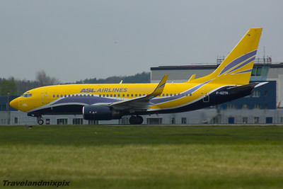 F-GZTN ASL Airlines France (Europe Airpost) Boeing 737-73S Glasgow Airport 07/05/2016