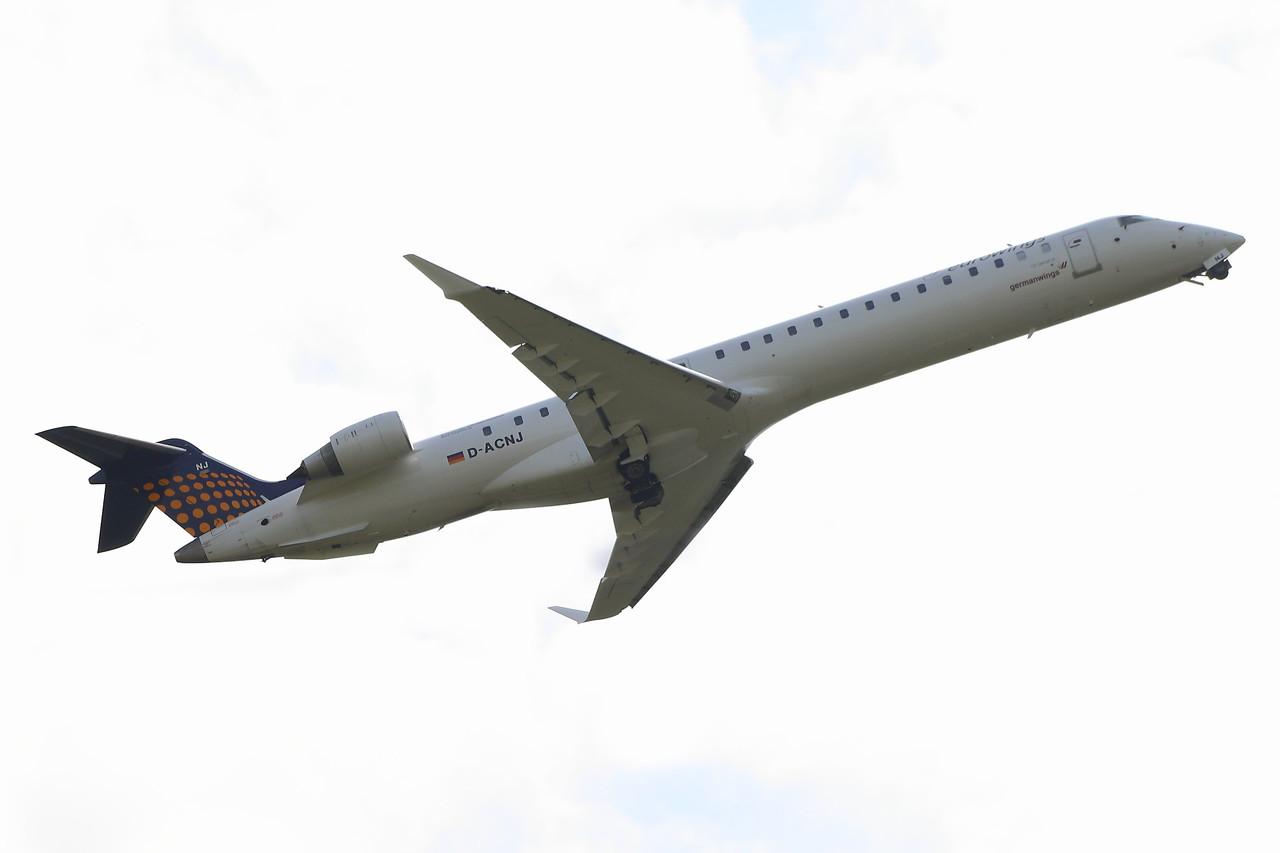 D-ACNJ Eurowings  Canadair CL-600-2D24 Regional Jet CRJ-900 Glasgow Airport 09/09/2014