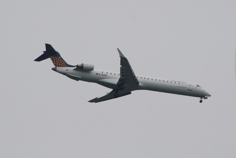 D-ACNL A Eurowings Canadair CL-600-2D24 Regional Jet CRJ-900 on approach to Glasgow Airport