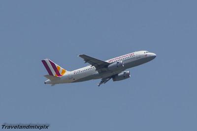 D-AGWY Germanwings Airbus A319-132 Malaga Airport 01/07/2015