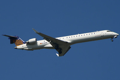 D=ACNL A Eurowings Canadair CL-600-2D24 Regional Jet CRJ-900 on approach to Glasgow Airport