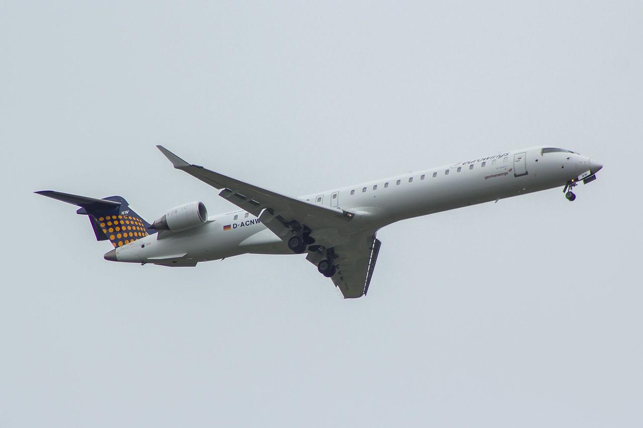 D-ACNW Eurowings  Canadair CL-600-2D24 Regional Jet CRJ-900 Glasgow Airport 26/07/2015