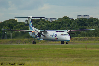 G-ECOA Flybe de Havilland Canada DHC-8-402Q Dash 8 Glasgow Airport 05/07/2016
