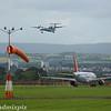 G-ECOJ<br /> Flybe<br /> de Havilland Canada DHC-8-402Q Dash 8<br /> G-EZWP<br /> EasyJet<br /> Airbus A320-214<br /> Glasgow Airport<br /> 26/07/2017