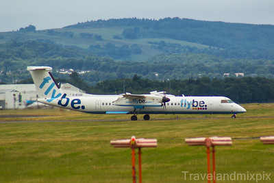 G-ECOD Flybe de Havilland Canada DHC-8-402Q Dash 8 Glasgow Airport 21/07/2018