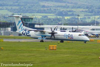 G-ECOD Flybe de Havilland Canada DHC-8-402Q Dash 8 Glasgow Airport 24/06/2017