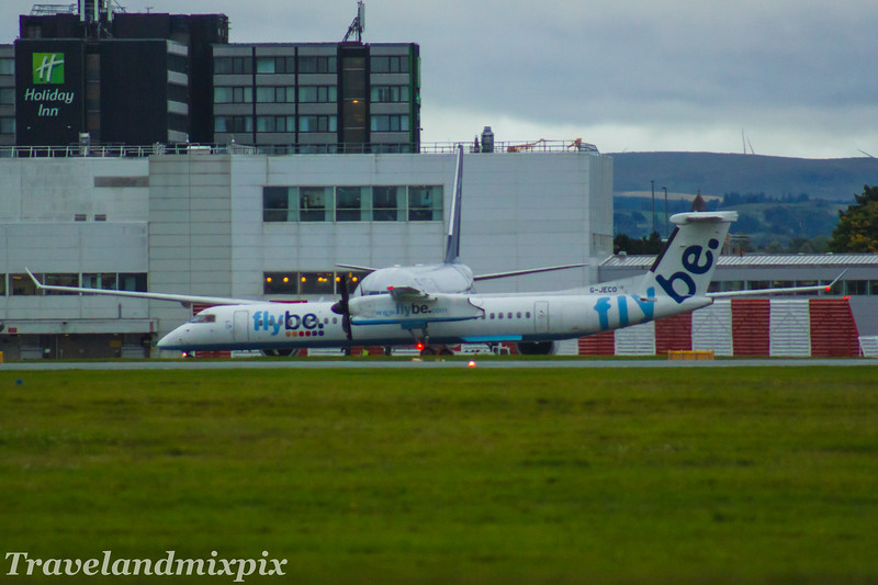 G-JECO<br /> Flybe<br /> de Havilland Canada DHC-8-402Q Dash 8<br /> Glasgow Airport<br /> 16/08/2017