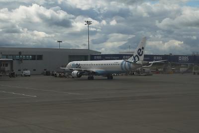G-FBEF Flybe Embraer ERJ-190-200LR 195LR at Glasgow Airport.
