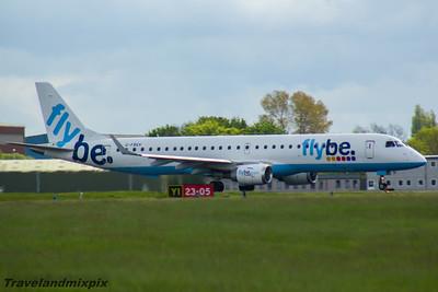 G-FBEK Embraer ERJ-195LR (ERJ-190-200 LR) Flybe Glasgow Airport 22/05/2016