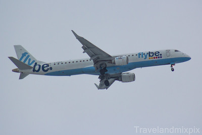 G-FBEH Embraer ERJ-195LR (ERJ-190-200 LR) Flybe Glasgow Airport 03/03/2018