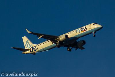 G-FBEH Embraer ERJ-195LR (ERJ-190-200 LR) Flybe Glasgow Airport 11/12/2017