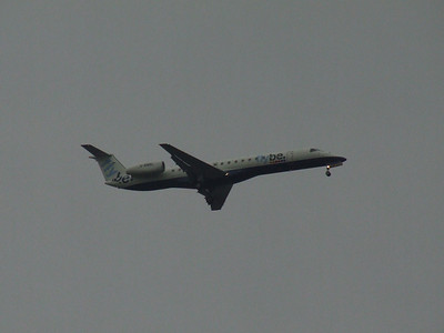 An Embraer EMB-145EU (ERJ-145EU)(G-EMBL) on approach to Glasgow Airport. This is one of the former BA Connect aircraft that was transferred when Flybe acquired the aircraft and routes.