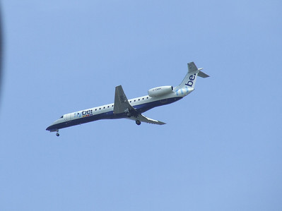 An Embraer EMB-145EU (ERJ-145EU)(G-EMBK) on approach to Glasgow Airport. This is one of the former BA Connect aircraft that was transferred when Flybe acquired the aircraft and routes. The aircraft is now in use with Semeiavia in Kazakhstan