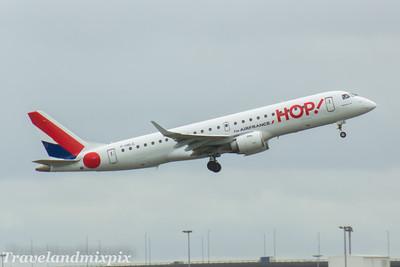 F-HBLE HOP! Embraer ERJ-190LR (ERJ-190-100 LR)  Glasgow Airport 21/04/2017