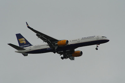 TF-FIZ An Icelandair Boeing 757-256 on approach to Glasgow Airport. The aircraft was withdrawn in October 2015