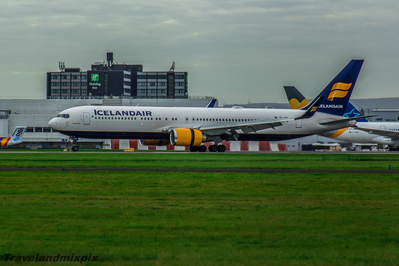 TF-ISN Boeing 767-319(ER) Icelandair Glasgow Airport 08/10/2016