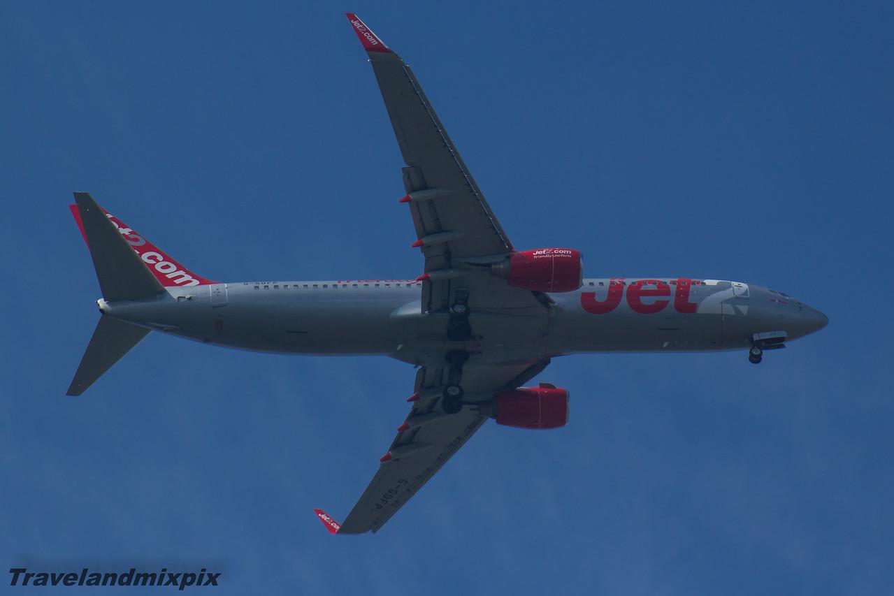 G-GDFY Jet2 Boeing 737-8Z9 Glasgow Airport 08/05/2016