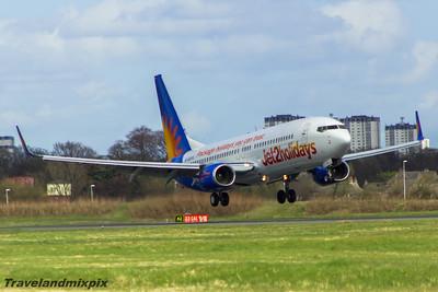 G-GDFU Jet2 Boeing 737-8K5 Glasgow Airport 12/04/2015