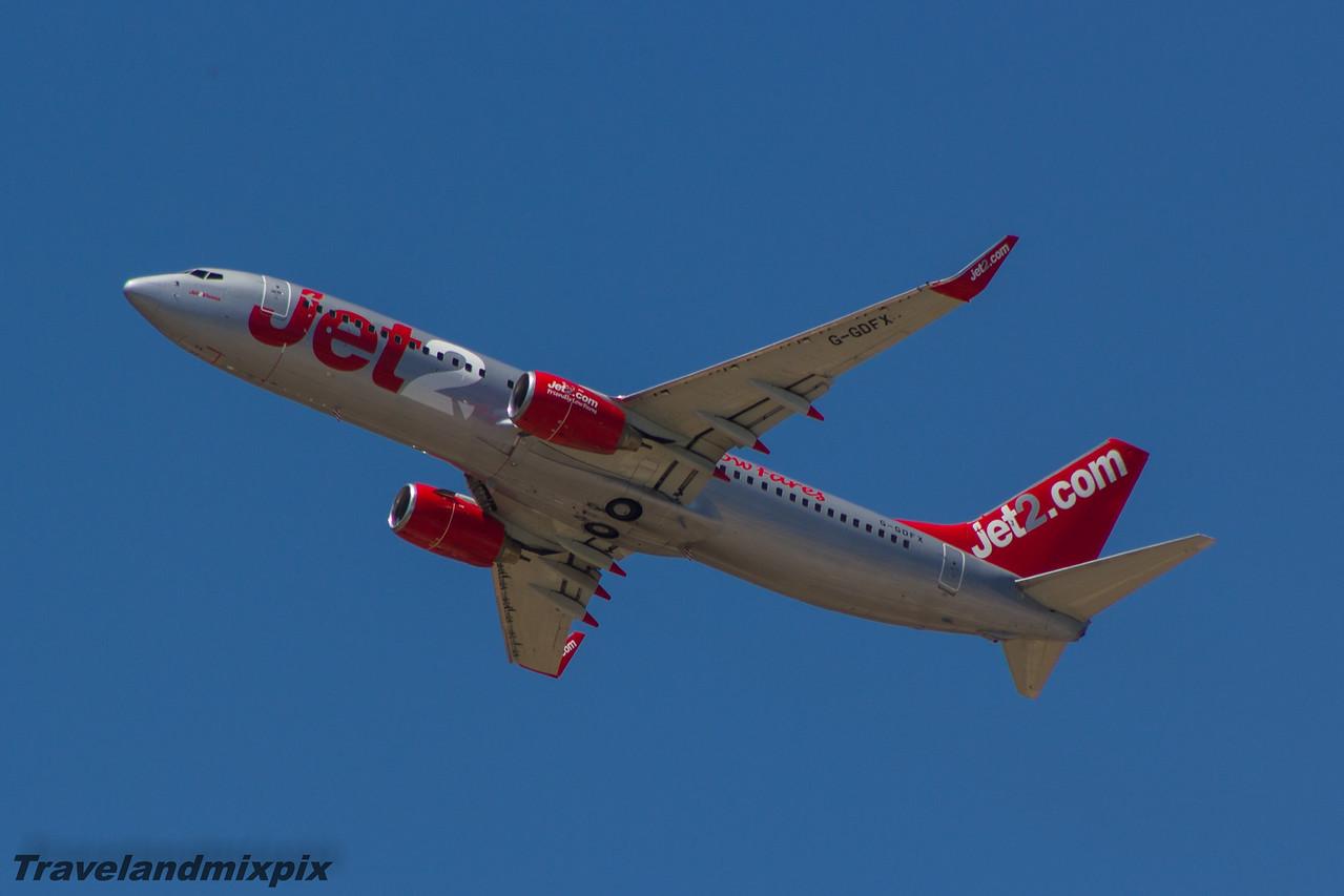 G-GDFX Jet2 Boeing 737-8K5 Malaga Airport 27/06/2015