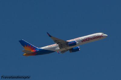 G-LSAN Jet2 Boeing 757-21B Malaga Airport 22/06/2015