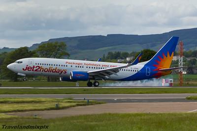 G-JZHA Jet2 Boeing 737-8K5 Glasgow Airport 30/05/2015