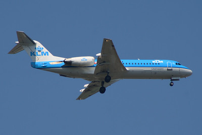 PH-KZI KLM Cityhopper Fokker 70 (F-28-0070) Glasgow Airport 24/07/2014