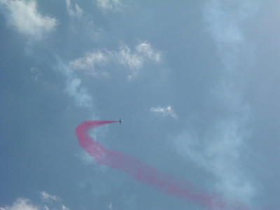One of the Red Arrows coming round for another pass