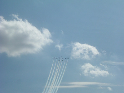 Red Arrows in formation during their display