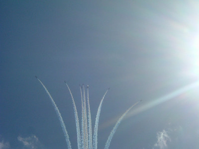 The Red Arrows breaking....