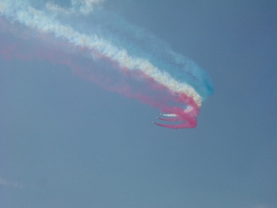 The Red Arrows in close formation