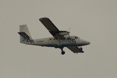 G-BVVK Loganair De Havilland Canada DHC-6-300 Twin Otter of Loganair on approach to Glasgow Airport. It dates from 1980 and was previously in use with Winderoe in Norway