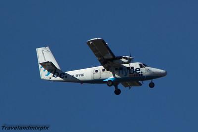 G-BVVK Loganair de Havilland Canada DHC-6-310 Twin Otter Glasgow Airport 21/03/2015