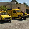 Former Malaga Airport avehicles. A Renault 4, Land Rover and a SAAB.