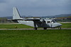 ZH537<br /> Britten-Norman BN-2T Islander CC.2B of the RAF on the taxiway at Glasgow Airport prior to take off