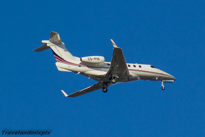 CS-PHI Embraer EMB-505 Phenom 300 NetJets Europe Glasgow Airport 06/11/2016