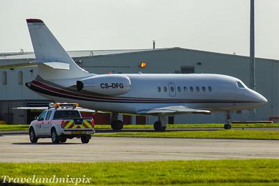 CS-DFG NatJets Europe Dassault Falcon 2000EX Glasgow Airport 26/07/2017