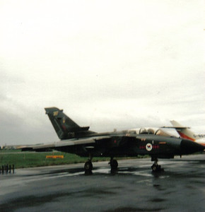 ZA367 Panavia Tornado GR1  45 Squadron Royal Air Force Prestwick Airport 30/05/1987 Updated to GR4 standard in 2002 and reduced to produce (for component recovery to help keep serviceable aircraft flying)  in January 2013