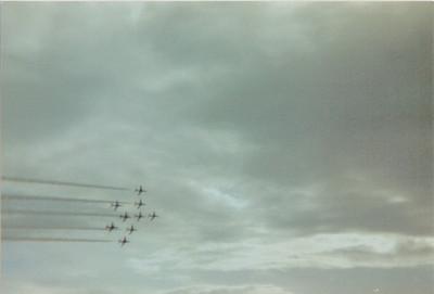 British Aerospace Hawk T1a Red Arrows Royal Air Force Prestwick Airport 30/05/1987