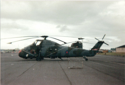 XV721 Westland Wessex HC2  72 Squadron Royal Air Force Prestwick Airport 30/05/1987
