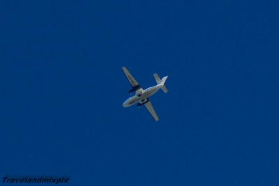 OK-RDA Citywing Let L-410UVP-E Turbolet Prestwick Airport 04/09/2016 Passing over Prestwick Airport on a service from Isle of Man to Glasgow Airport