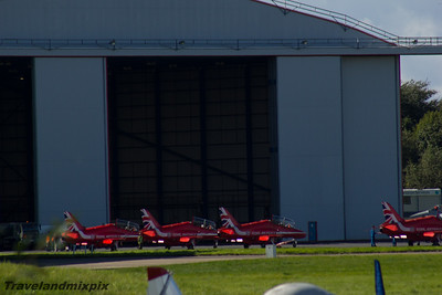 British Aerospace Hawk T1a Red Arrows Royal Air Force Prestwick Airport 04/09/2016