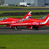 British Aerospace Hawk T1a<br> Red Arrows<br> Royal Air Force<br> Prestwick Airport<br> 04/09/2016<br>