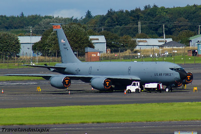 57-1428 151st Air Refuelling Squadron US Air Force Boeing KC-135R Stratotanker Prestwick Airport 04/09/2016 Part of the 134th Air Refueling Wing,   Tennessee Air National Guard, based at  McGhee Tyson Air National Guard Base, Knoxville
